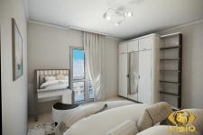 3D-визуализация спальной в квартире Греции, купить
